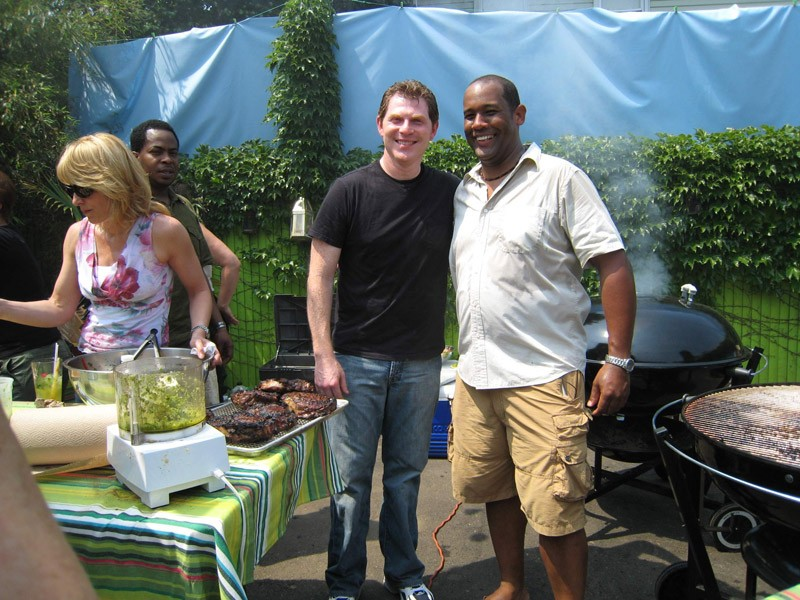 Nigel Spence with Bobby Flay