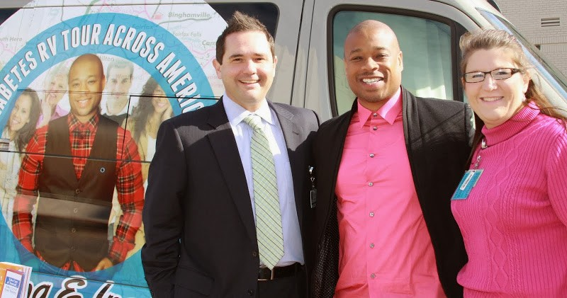Charles Mattocks with Partners for The Diabetic You Tour