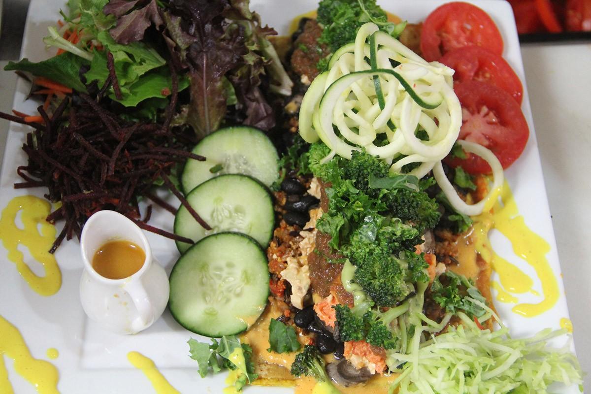 Plant-based dish at Stuff I Eat in Inglewood, Calif.