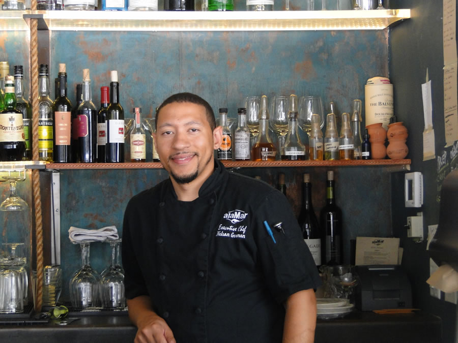 Chef Nelson German, owner of alaMar Kitchen and Bar in Oakland