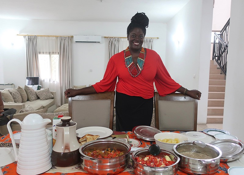 Grace Odogbili of Dining with Grace in Tanzania