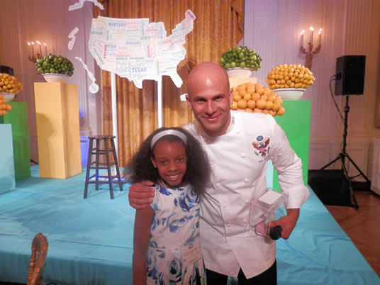 First Couple Honors Healthy Choices of Junior Chefs