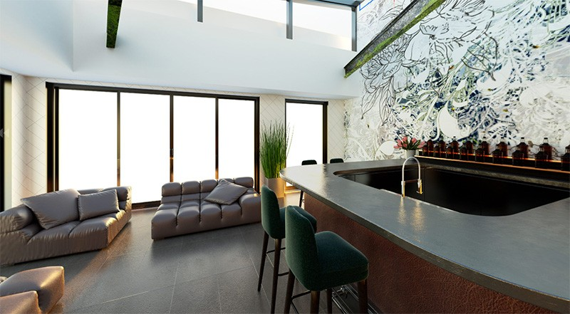 Interior of Maison 208 in Philadelphia