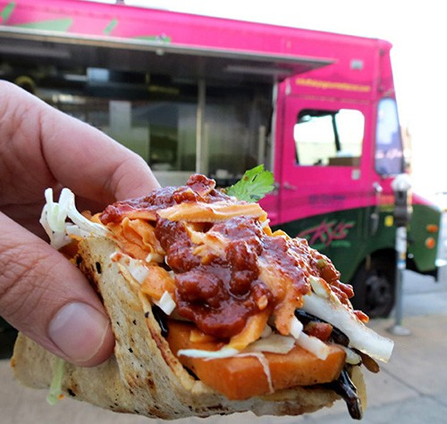 Food from Sky's Gourmet Tacos