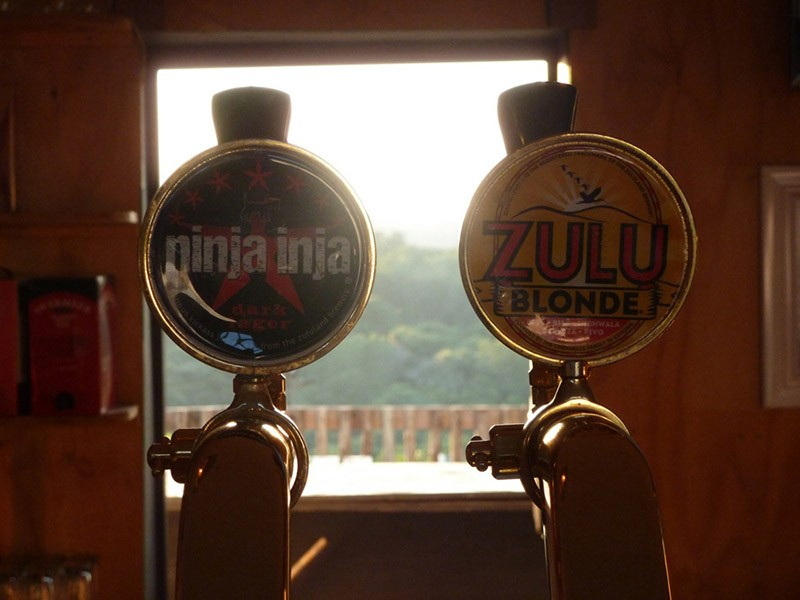 Zululand Brewing Company beers on tap