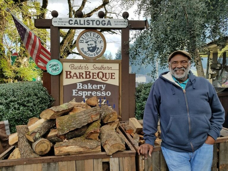 Buster Davis of Buster's Southern Barbeque in Calistoga
