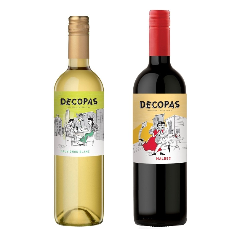 Argentina's Decopas Malbec and Sauvignon Blanc Wines