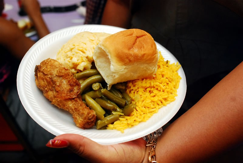 Plate of soul food