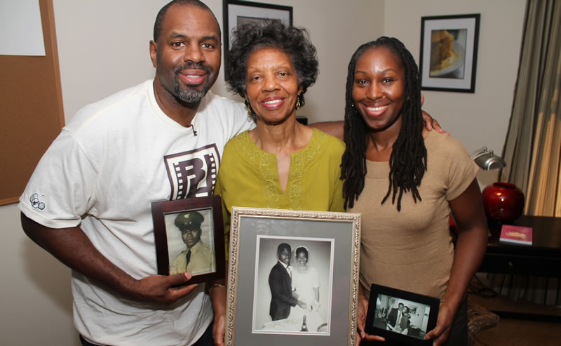 Byron Hurt with family members