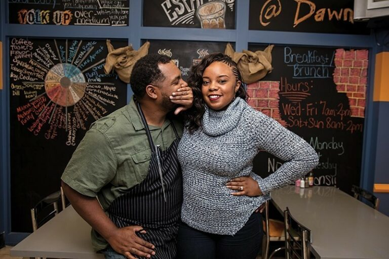 Greg and Subrina Collier - Owners of The Yolk Cafe