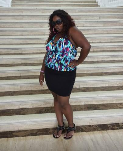 Ebony Haley before weight loss