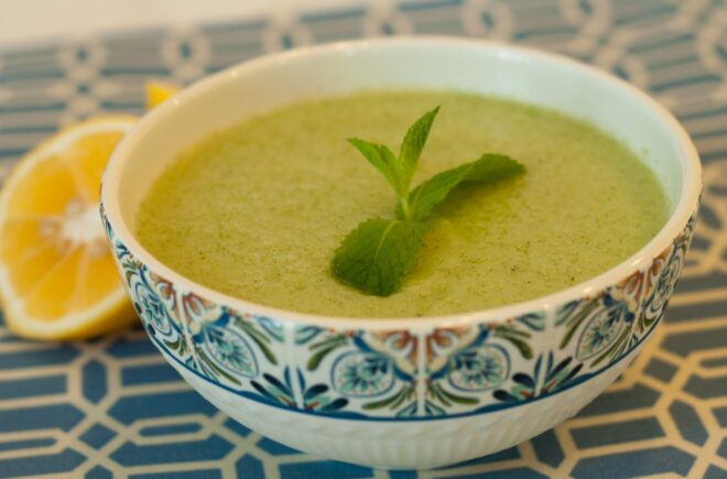 Iced Citrus Cucumber Soup