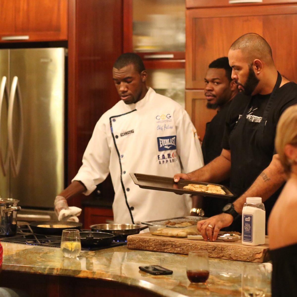 Caribbean chef and boxer Julius Jackson in St. Croix