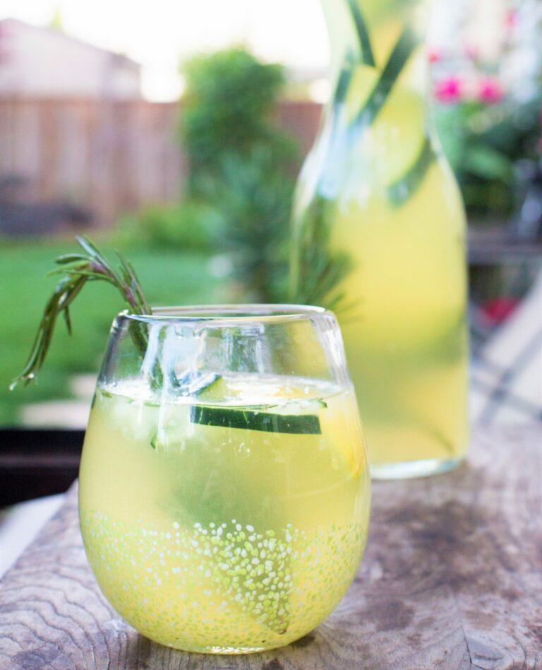 Rosemary Cucumber Lemonade