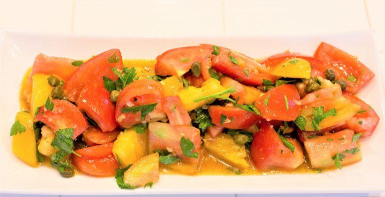 Heirloom Tomato Salad with Sherry Vinaigrette