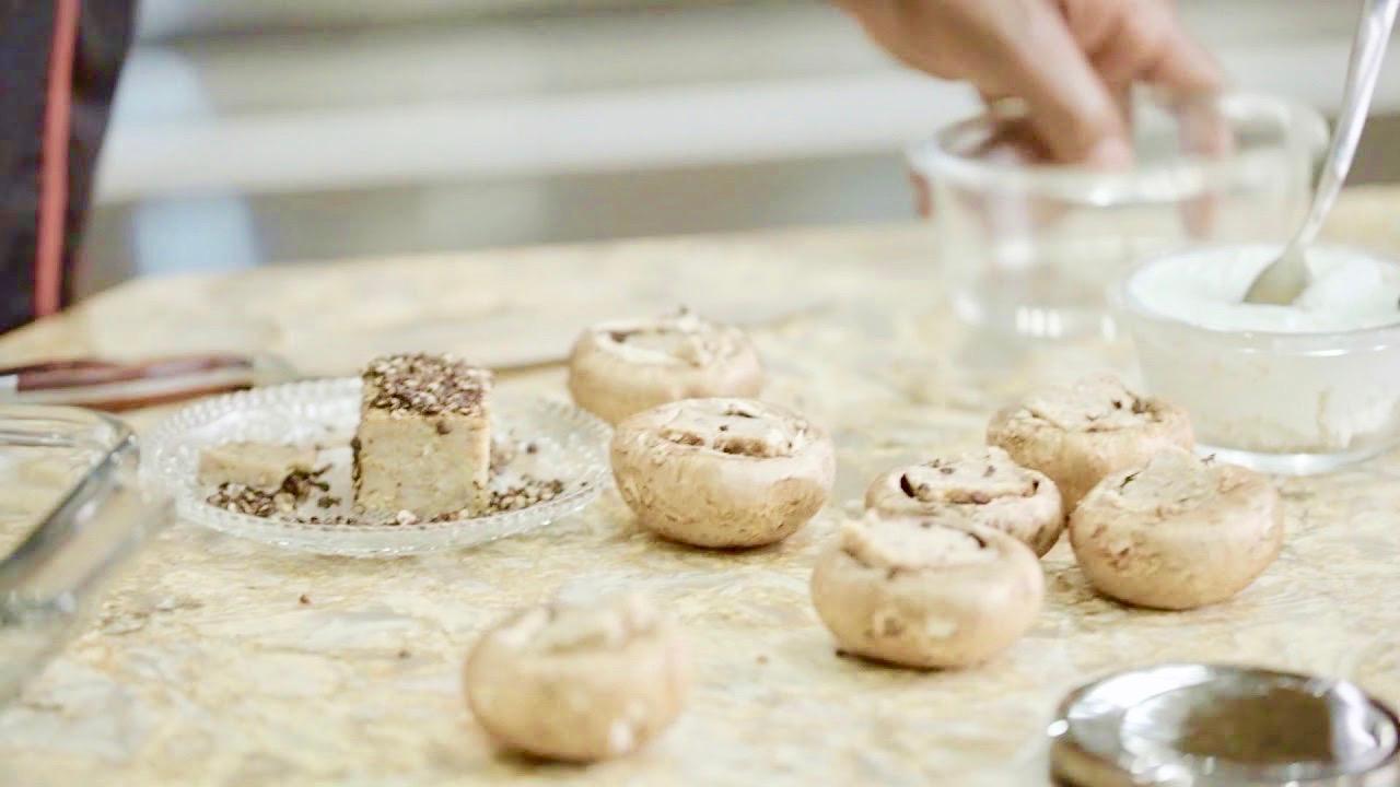 Cook Like A. Champion: Peppercorn Stuffed Mushroom Caps