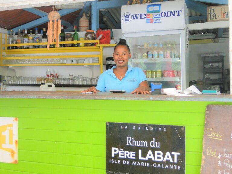 Bar restaurant on the island of Marie Galante