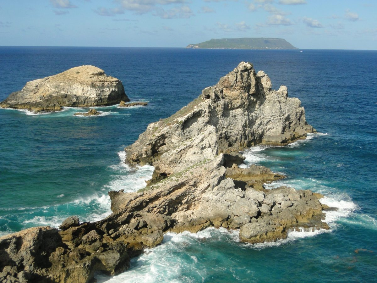 Point des Chateaux in Guadeloupe