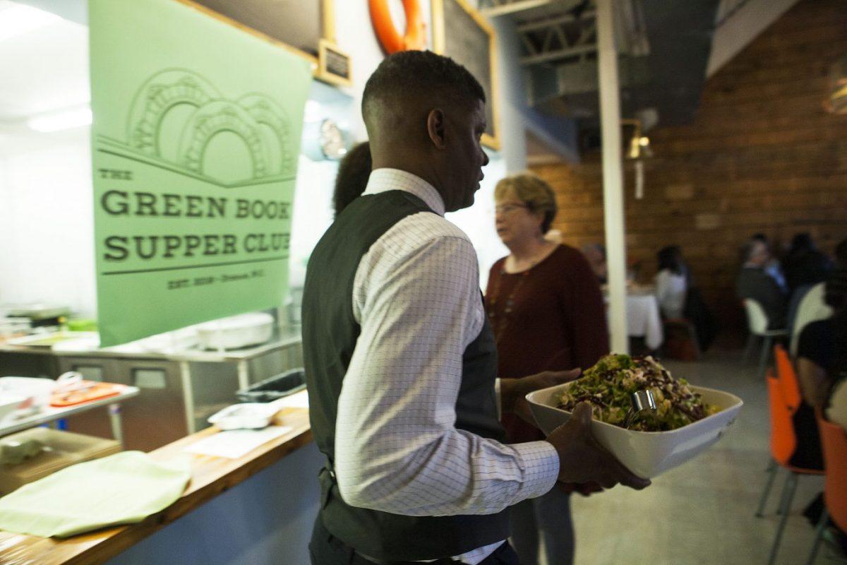 Green Book Pop-Up dinner Co-founder Adrian Lindsay