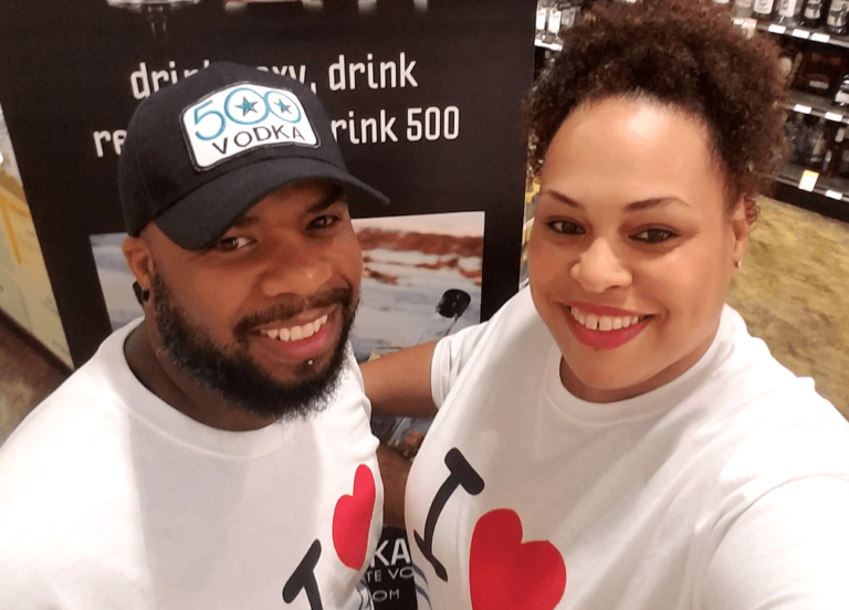 500 Vodka owners Kyle and Teya Smith