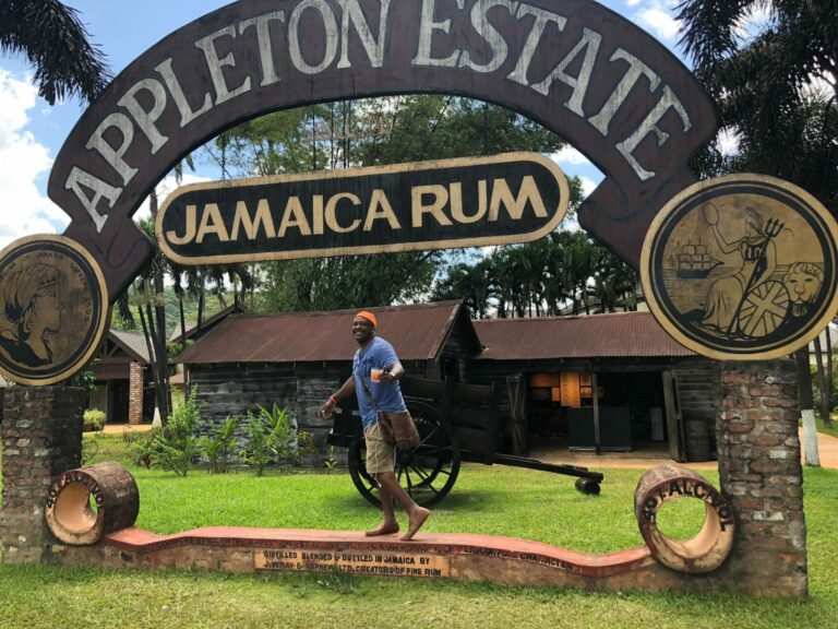 Chef Irie Sinclair at Appleton Estate in Jamaica