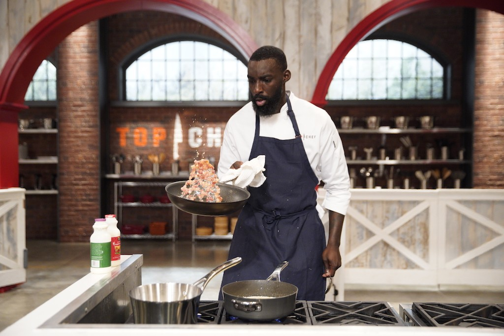 Chef Eric Adjepong competing on Top Chef