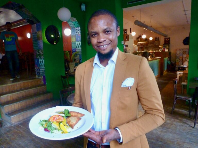 Pan Africa Berlin restaurant owner Frank Anyangbe