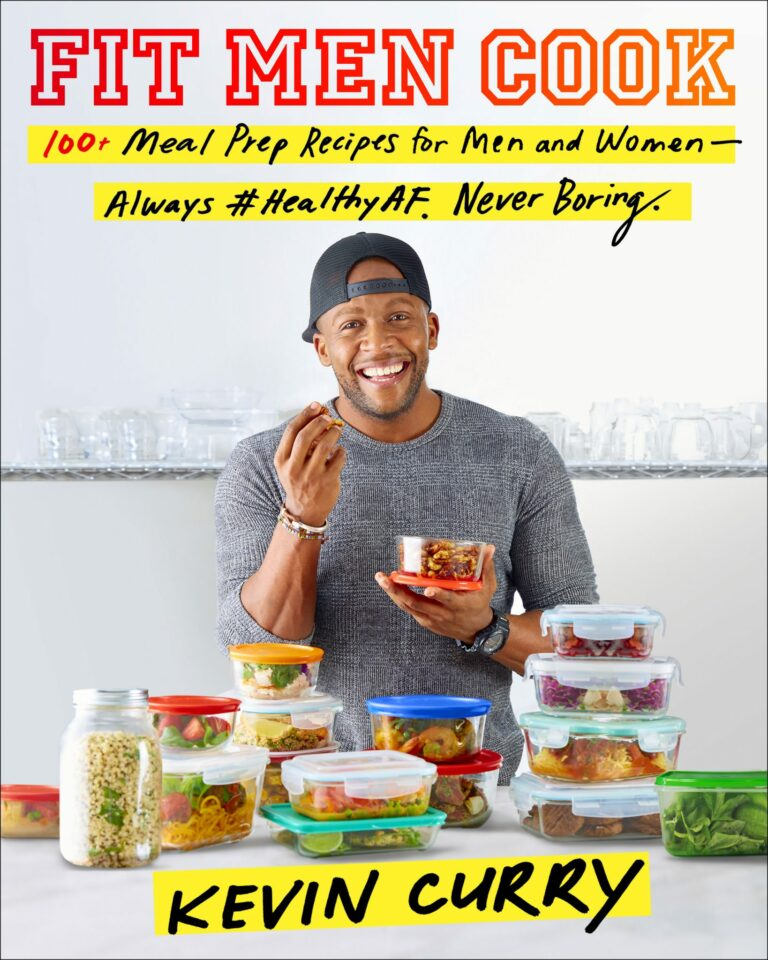 Fit Men Cook book cover with Kevin Curry