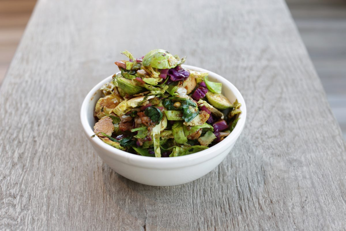 Brussels Sprout Salad at AllSpice Kitchen and Grill in Los Angeles