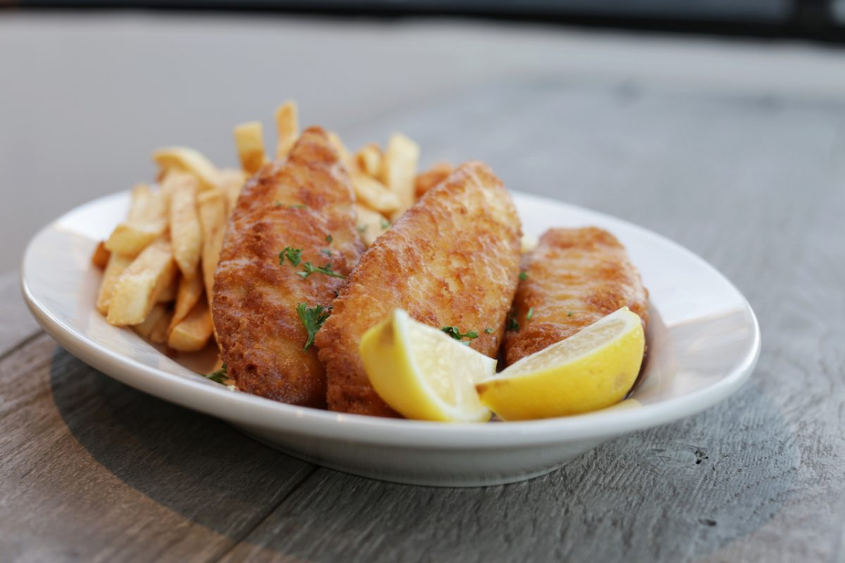 Fish and Chips at AllSpice Kitchen and Grill in Los Angeles