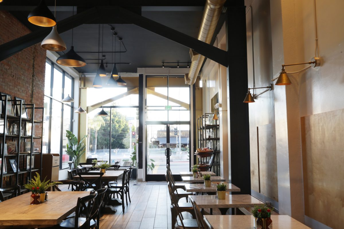 Interior of AllSpice Kitchen and Grill in Los Angeles