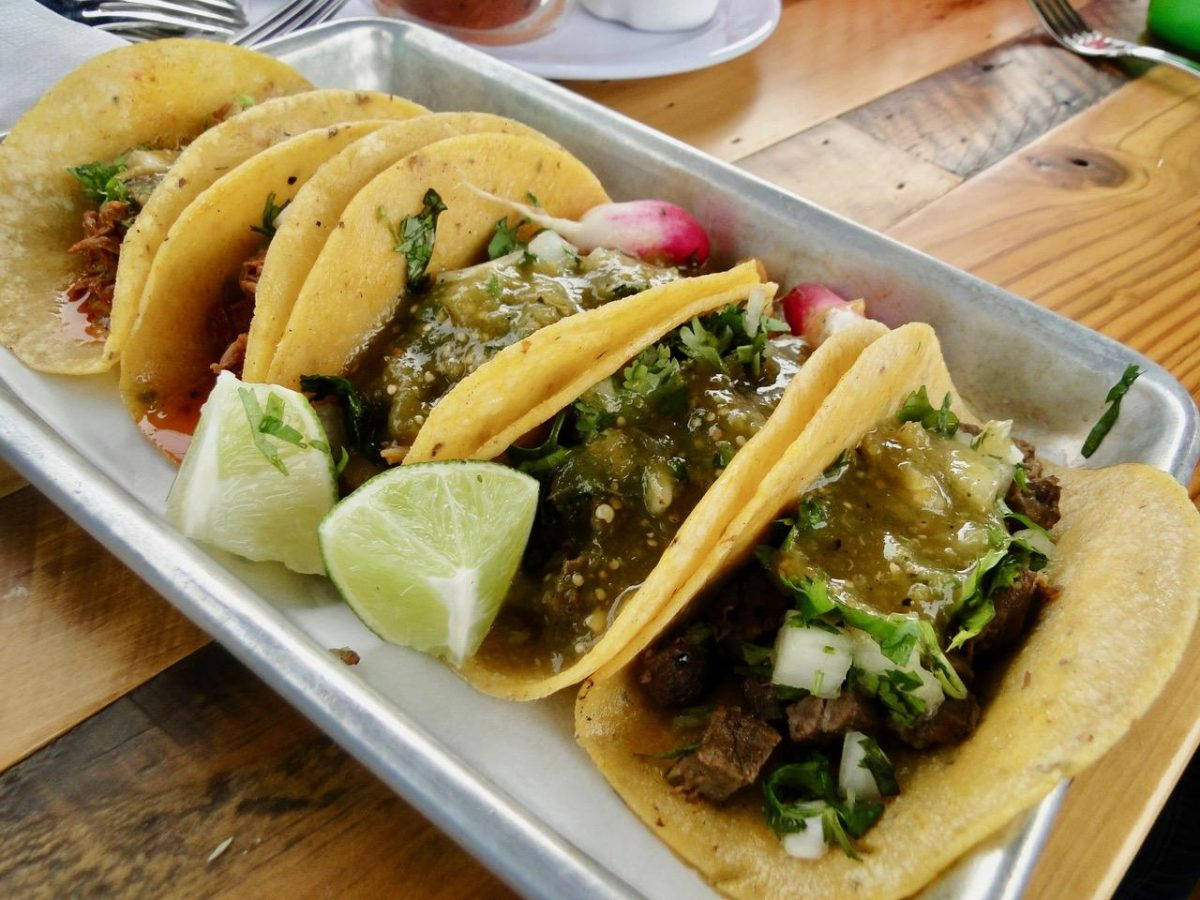 Tacos from YeYo's Mexican Grill at 8th Street Market in Bentonville, AK