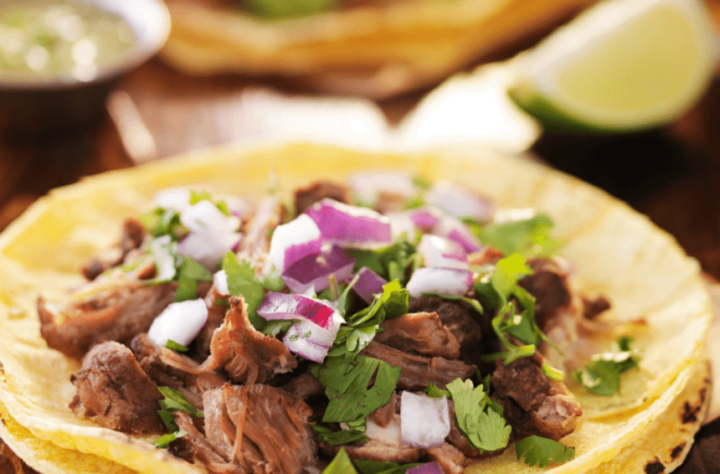 Arawak Farm Slow Cooker Jerk Beef Tacos