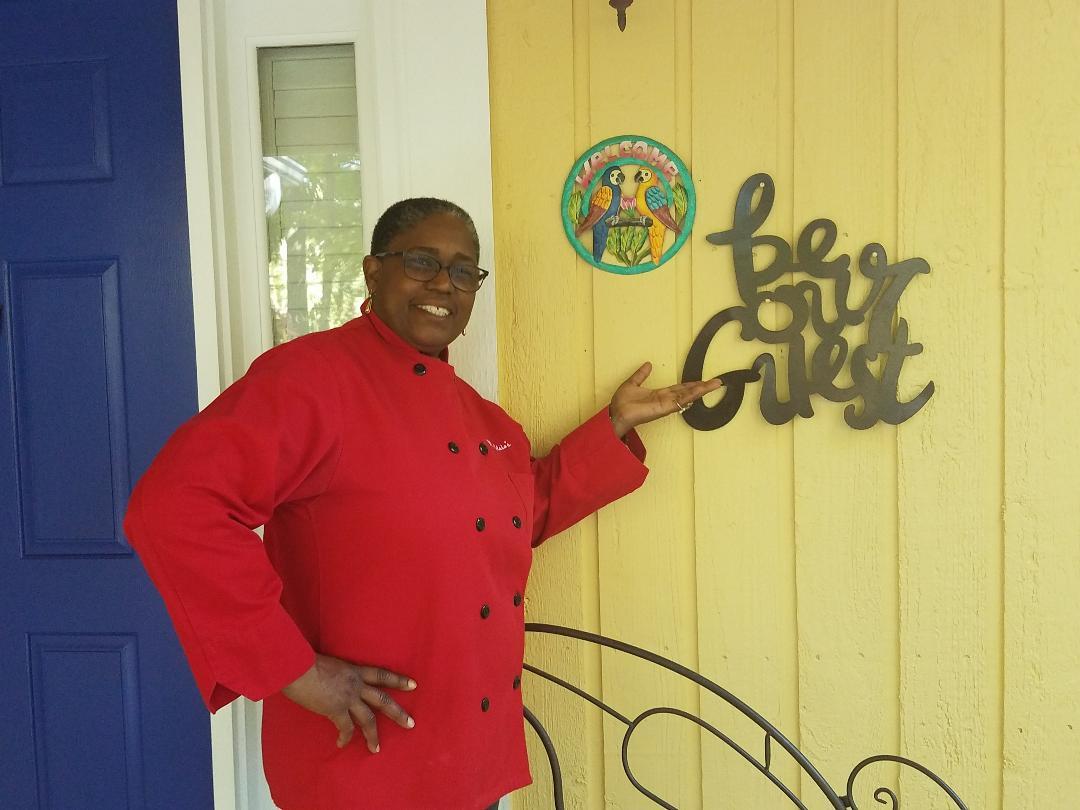 Cheryl Watkins of Ms. Elsie's Caribbean B & B in North Carolina