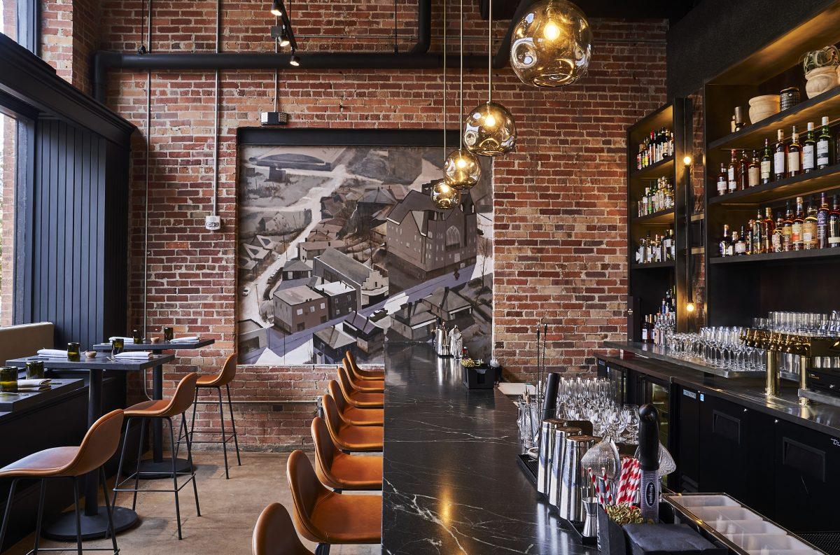Bar area at Benne restaurant in Ashville