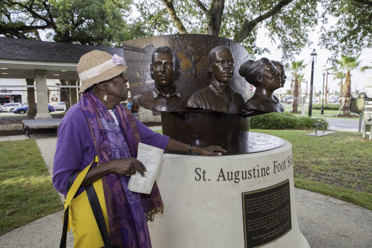 St. Augustine Foot Soldiers Monument in the plaza