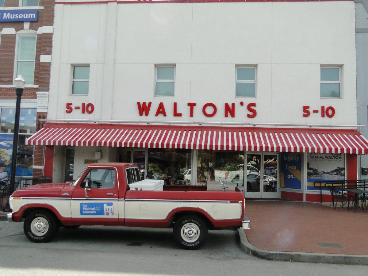 Sam Walton's Truck Outside The Walmart Museum in Bentonville, AR