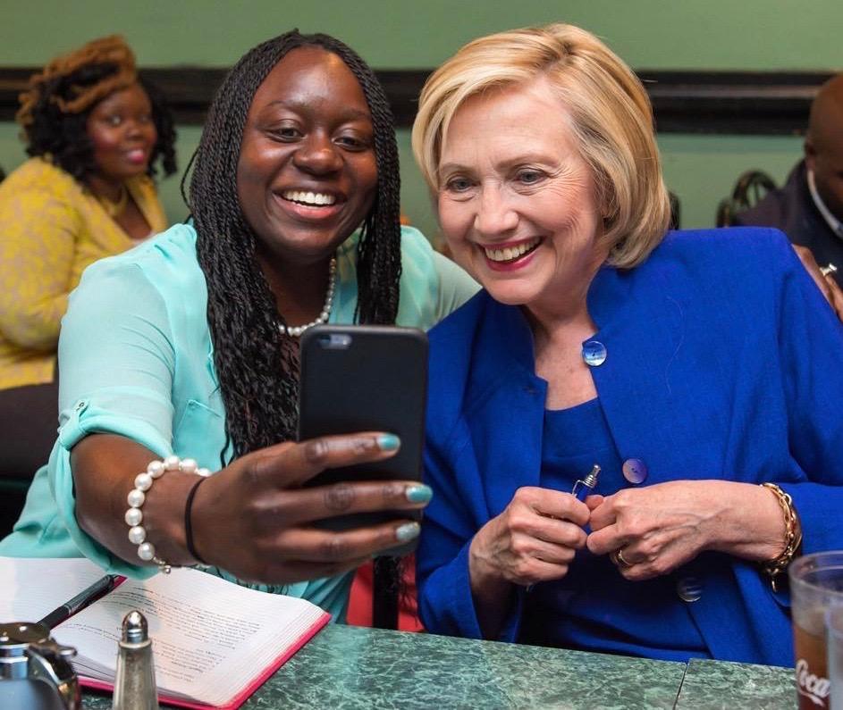 Kitwanda Cyrus with 2016 Democratic Nominee Hillary Clinton