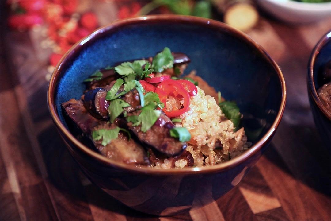 Garlic-Mushroom Quinoa