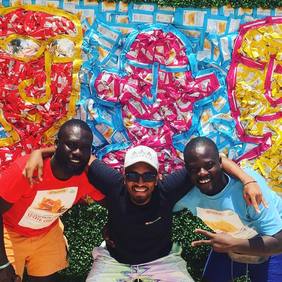 Jamie Saleeby and friends of Sankofa Snacks in Ghana