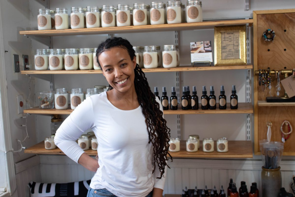 Letta Moore, owner of Knits, Soy & Metal in Baltimore