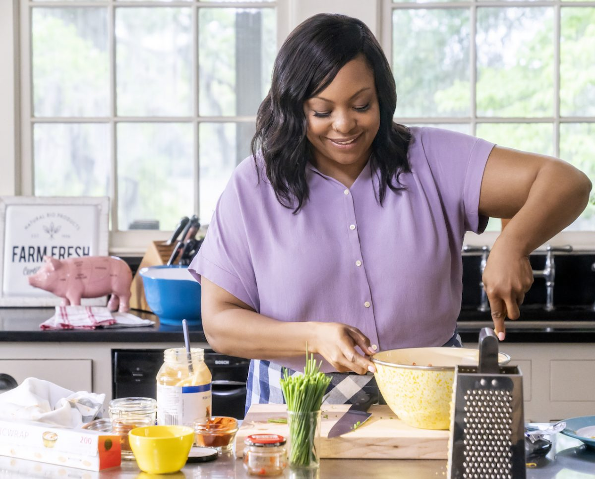 Host Kardea Brown makes her Pimento Cheese Stuffed Burgers with Special Sauce, as seen on Southern and Hungry, Season 1.