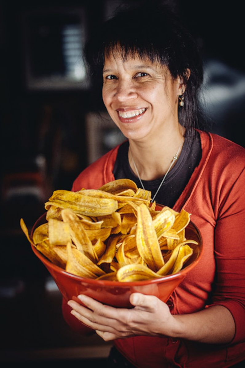 Donna Moodie of Marjorie in Seattle with her plantain chips