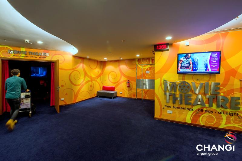Movie theater at Changi Airport in Singapore
