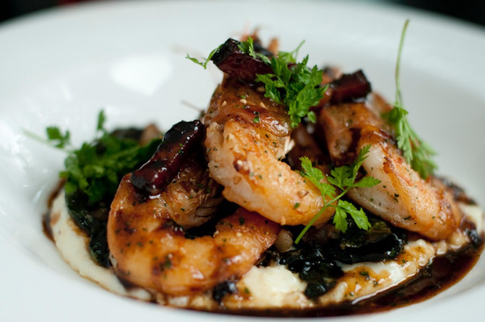 Shrimp and Grits at Marjorie in Seattle, WA
