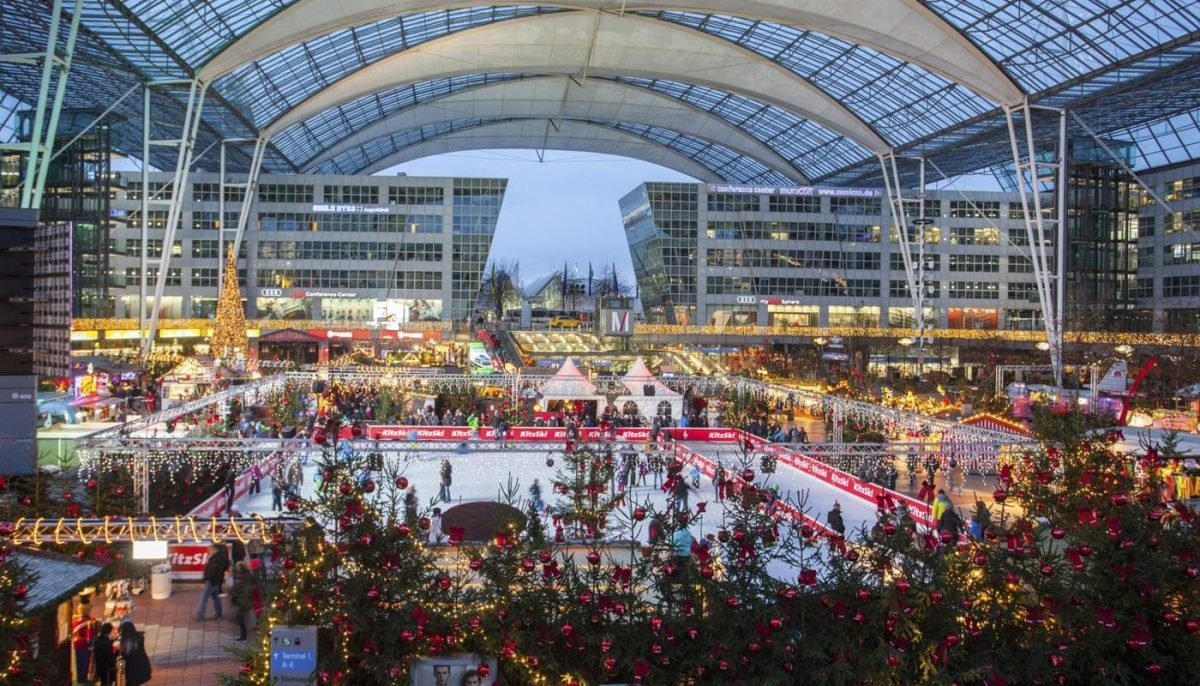Winter Market at the Munich Airport