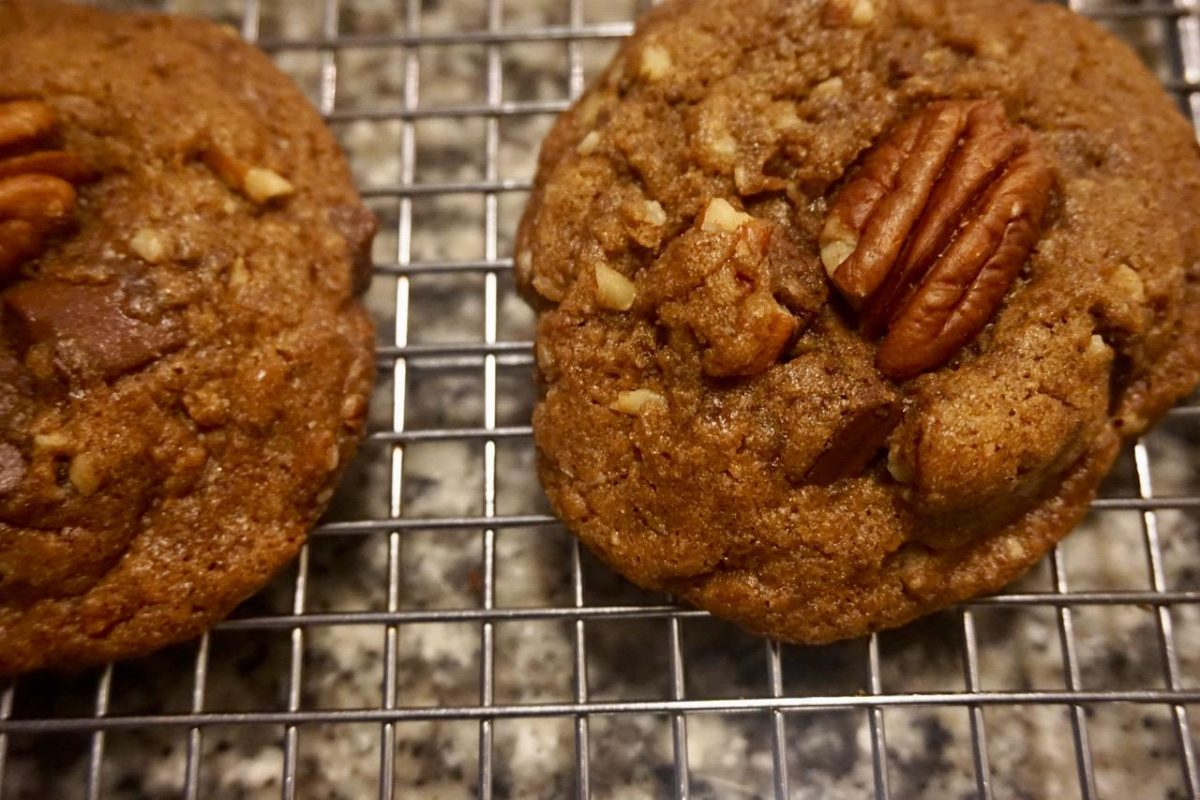 Bourbon Pecan Cookies by Mona Sanders and A Little Taste of Heaven