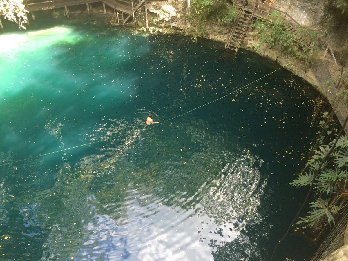 A Cenote in Mexico's Yucatan Peninsula