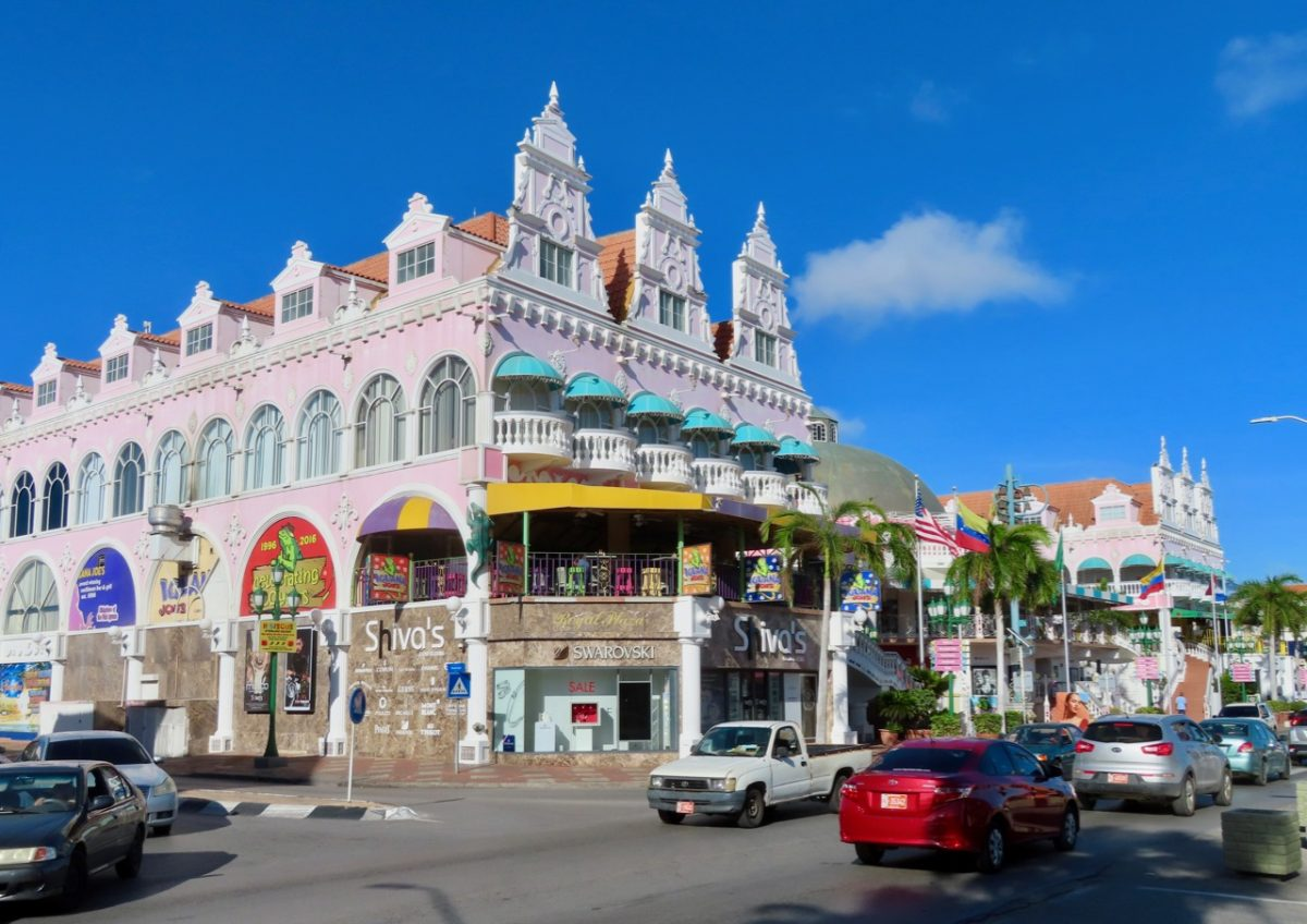 Downtown Oranjestad in Aruba
