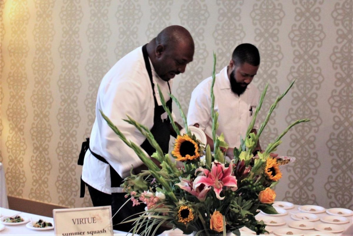 Chef Erick Williams with staff of Virtue in Chicago, IL